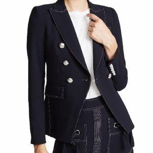NWT Veronica Beard Navy Miller Dickey Jacket Sz 6